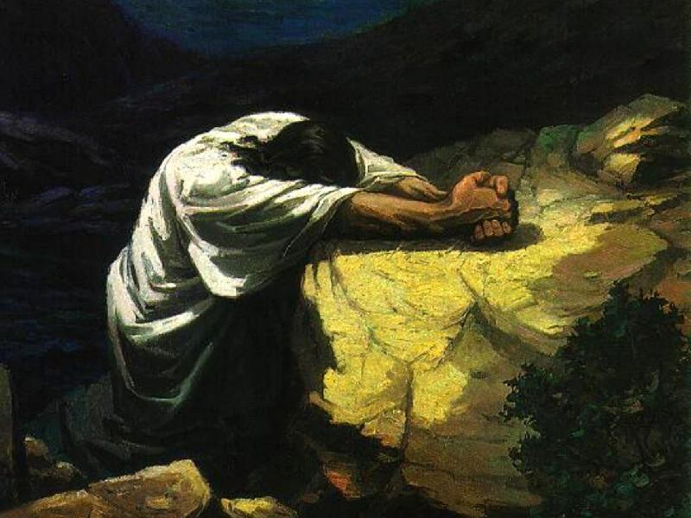 Thursday - The Gethsemane Prayer     Anonymous - Christ in GethsemaneJesus Praying In The Garden Of Gethsemane Painting